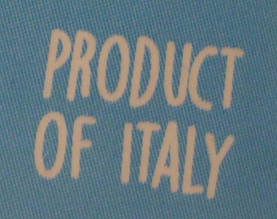 etichetta prodotto in Italia